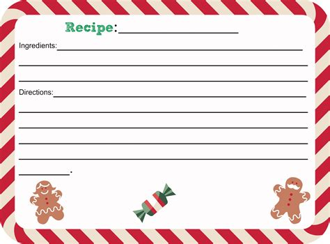 Free Printable Christmas Recipe Card Shesaved 174 Recipe Card Templates