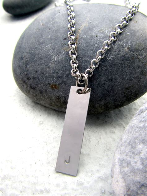 personalized mens necklace customized initial necklace