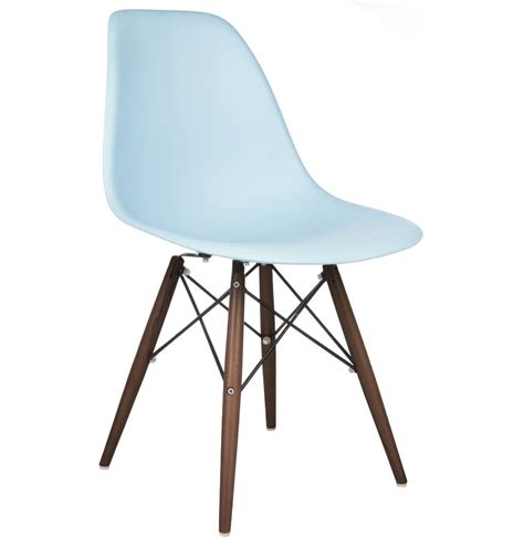 Dsw Dining Chair Eames Style Dsw Dining Shell Chair With Walnut Eiffel Legs In Sky Blue