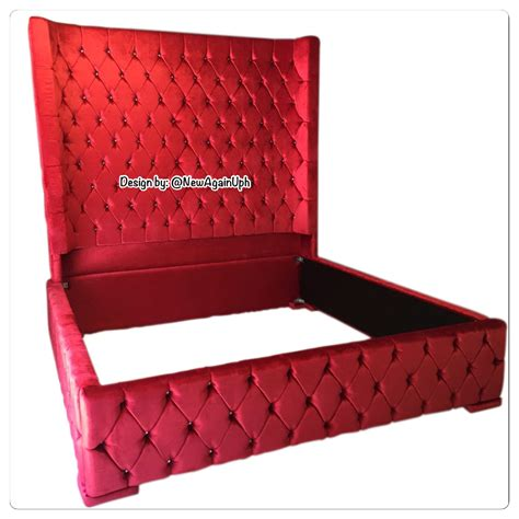 wingback tufted bed king size headboard size size