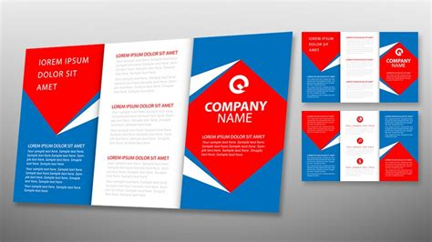 tri fold brochure illustrator template tri fold brochure template indesign free images