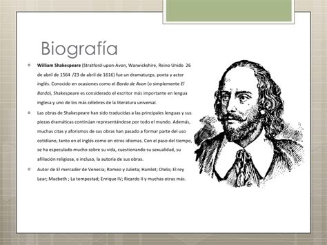 biografia de william shakespeare pensador hamlet