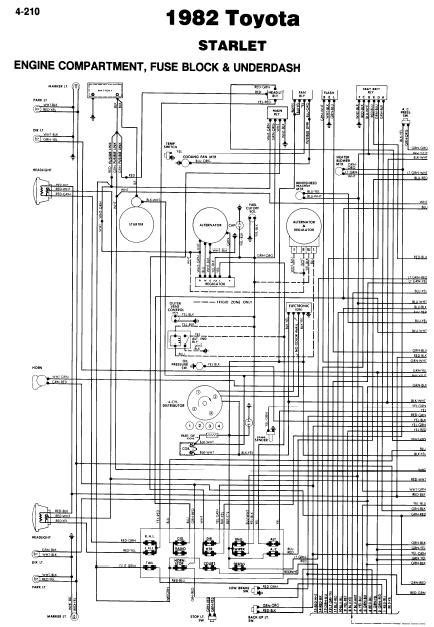 Repair Manuals Toyota Starlet 1982 Wiring Diagrams