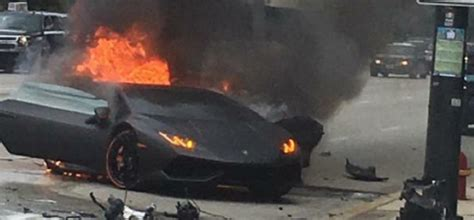 Lamborghini Crashes Crashed Lamborghini Huracan Driver Saved From Crash And