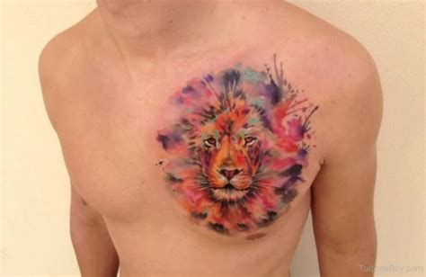 watercolor tattoo lion tattoos designs pictures