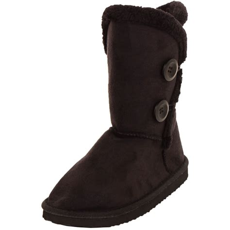 womens fur boots womens fur boots faux sheepskin suede button fashion snow