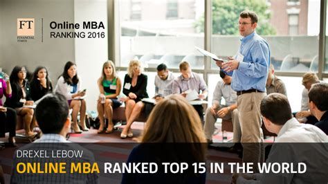 Grand Masters With Mba Degrees by Top Ranked Mba Degree Program Drexel Lebow