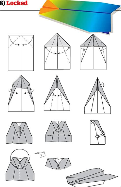 Steps How To Make A Paper Airplane - how to make a paper airplane step by step for
