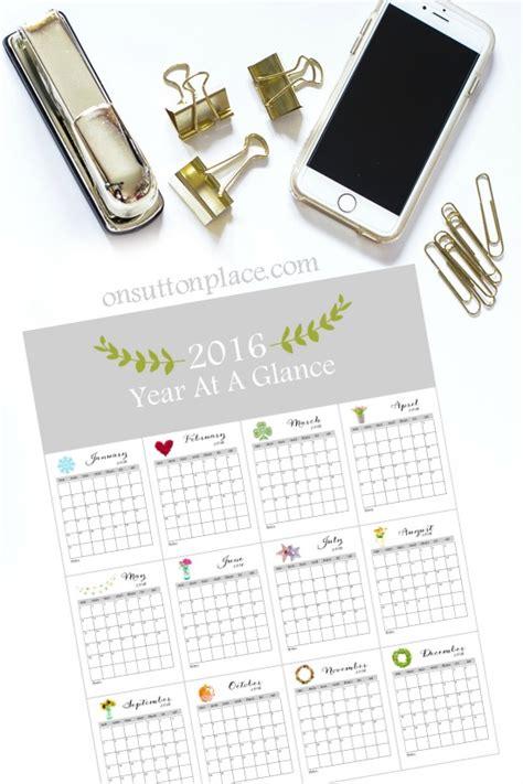 printable year at a glance calendar 2016 20 free printable calendars 2016 jaderbomb