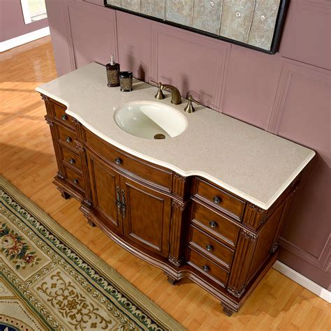 60 vanity single silkroad exclusive 60 inch bathroom single sink vanity