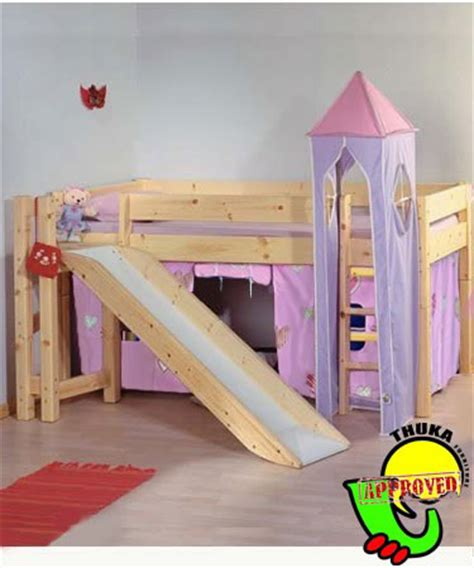 slide for bed bunk beds thuka maxi 12 cabin bunk bed with slide tents