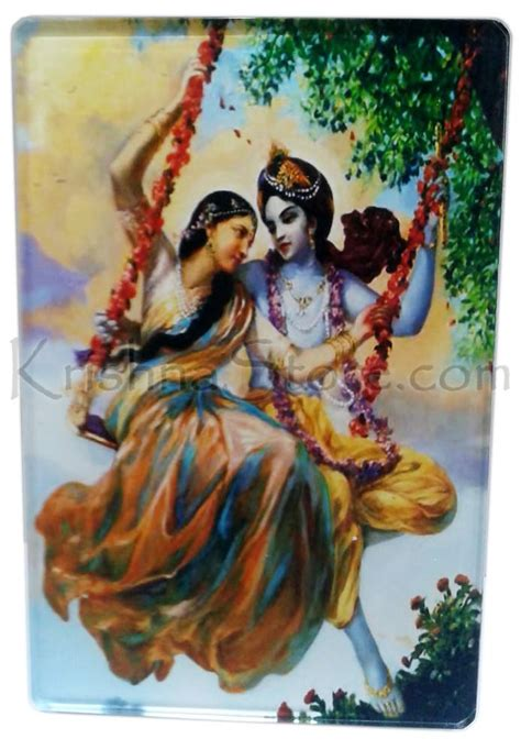 radha krishna swing acrylic stand radha krishna on swing large size