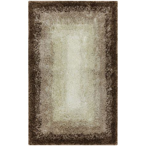 Mohawk Home Bath Rugs Mohawk Home Ombre Border Taupe 20 In X 32 In Bath Rug 066995 The Home Depot