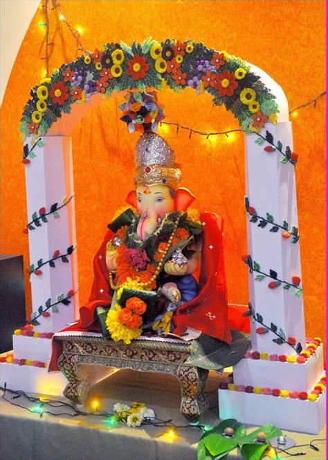paper craft ganpati decoration decoration  ganpati