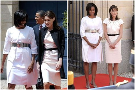 You Asked We Found And Michelles Fashion Faceoff Dress by Obama With Carla Bruni White Dresses