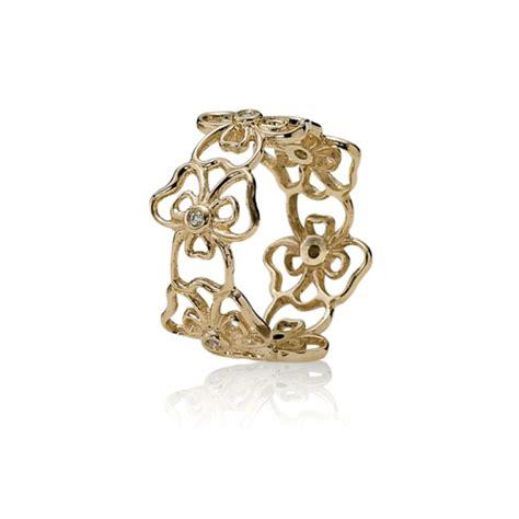 pandora ring flowers gold rings cheap