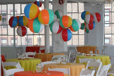summer theme decorations for an indoor summer themed gathering swank producers