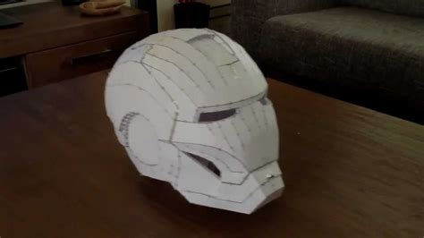 Ironman Helmet Papercraft - pepakura ironman helmet ready for fibreglass