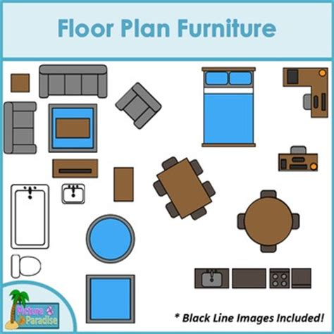 floor plan furniture clip art  digital paper resources  clips  salsa
