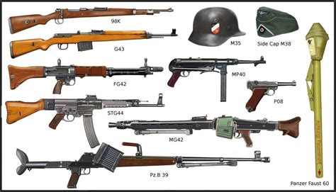 german weapons german military weapons of ww1 ww2 ww2 german infantry s weapons by andreasilva60 on