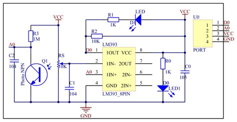 electronic circuit photocell and led cmd response this