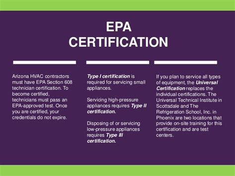 epa section 608 certification how to get hvac certification in arizona