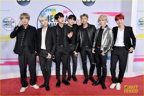 bts on ama bts hit the red carpet at american music awards 2017