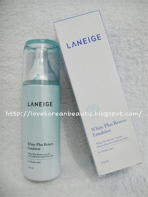 Pelembab La Mer korean review laneige white plus renew emulsion