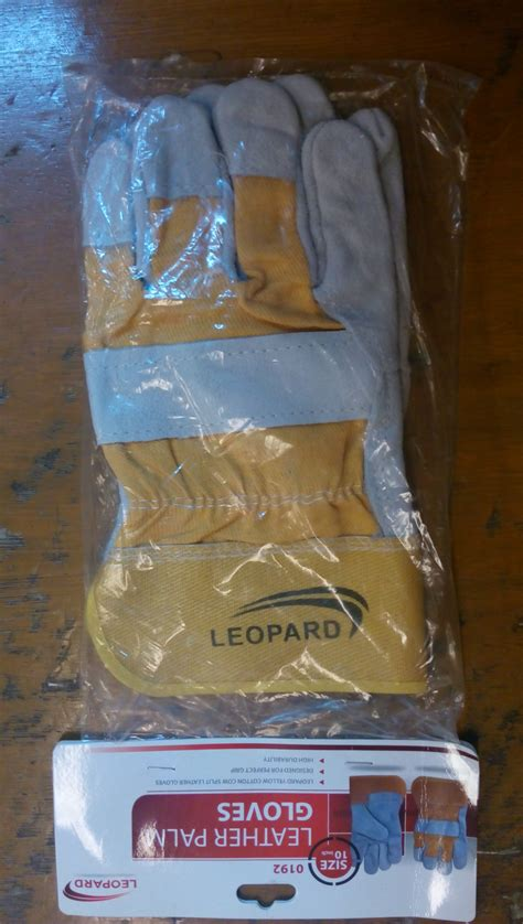 Sarung Tangan Kulit Tahan Api sarung tangan kulit kombinasi leopard