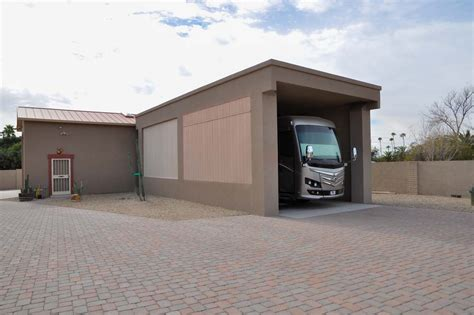 trailer garage trailer garage rv carport with garage door pictures to pin