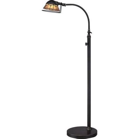 bronze led floor reading lamp  industrial vintage design  dimmer