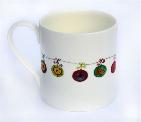 design mug christmas fine bone china mug designs by dimbleby ceramics