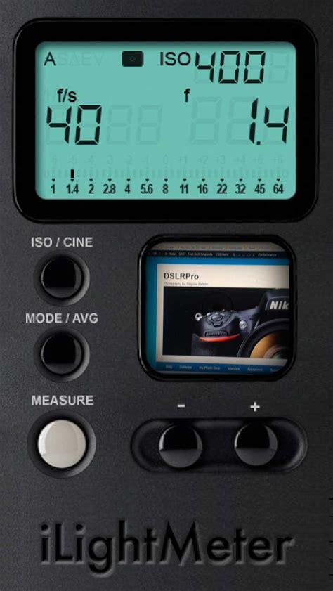 light app for iphone ilightmeter iphone light meter apps dslrpro