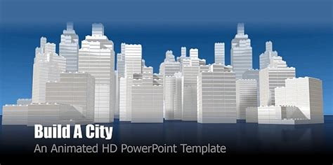 Animated City Powerpoint Templates City Powerpoint Template