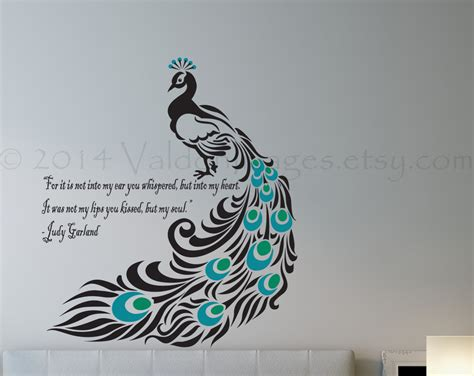 peacock wall stickers peacock wall decal bird wall decal bedroom wall decal