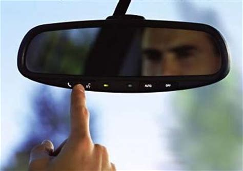 Rear View Mirror On A Windshield Auto Glass Mirror