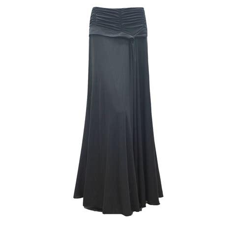 stunning maxi black length 42 skirt uk size 10