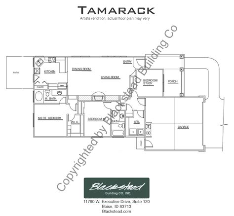 Tamarack Floor Plans | tamarack floor plan blackstead building co
