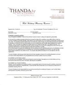 wedding planner contract template 5 planner contract templates free sle exle