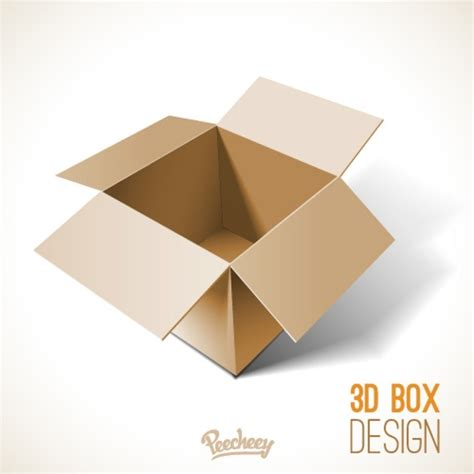 opened cardboard box template free vector in adobe