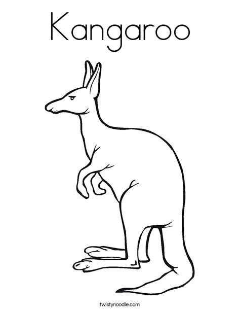 kangaroo coloring page twisty noodle