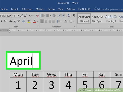 make a calendar with pictures how to make a calendar in word with pictures wikihow make