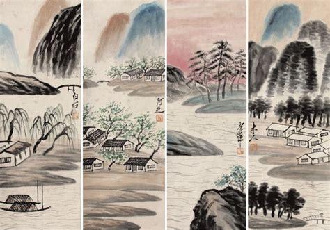 Lukisan Dekoratif Painting Ruang Tamu Hotel Kantor Fengshui 1371 lukisan pemandangan cina promotion shop for promotional lukisan pemandangan cina on aliexpress