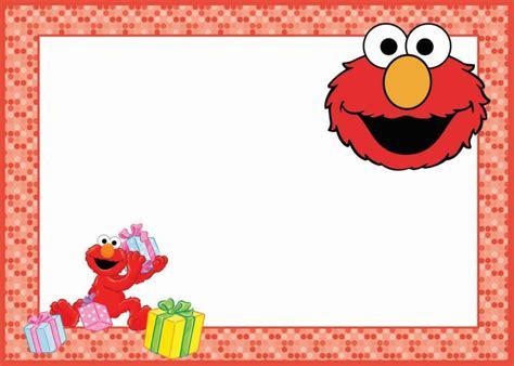 Elmo Birthday Card Template by Elmo Birthday Invitation Card Free Printable