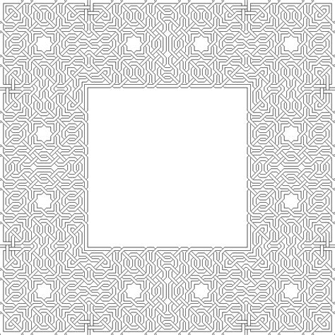 islamic pattern colouring free coloring pages of islamic pattern