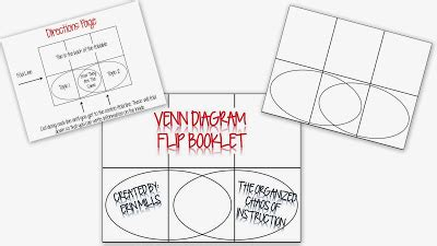 venn diagram foldable printable the organized chaos of instruction foldable venn diagram