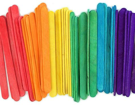 color sticks orange craft sticks