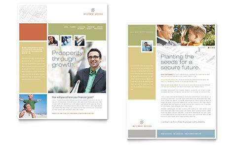 Investment Advisor Newsletter Template Design Financial Newsletter Templates
