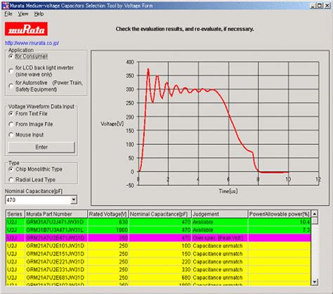 murata medium voltage capacitors selection tool by voltage form murata manufacturing co ltd