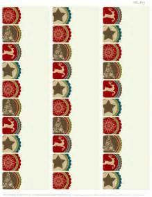 a rustic christmas printable label set worldlabel blog